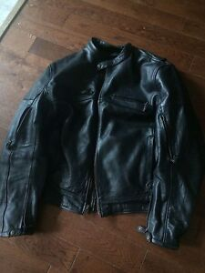 Men's x-large leather motorcycle jacket