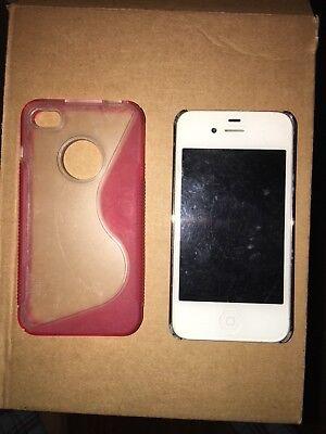 coque transparente rose pour iPhone 4