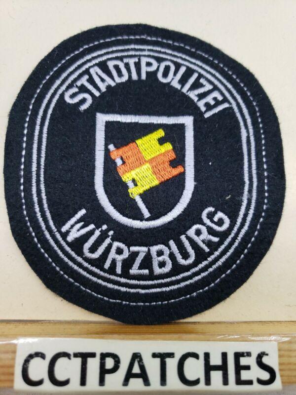 WURZBURG GERMAN STADTPOLIZEI POLICE GERMANY FELT SHOULDER PATCH
