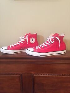 Red Converse Chuck Taylor High Top Mens Size 11