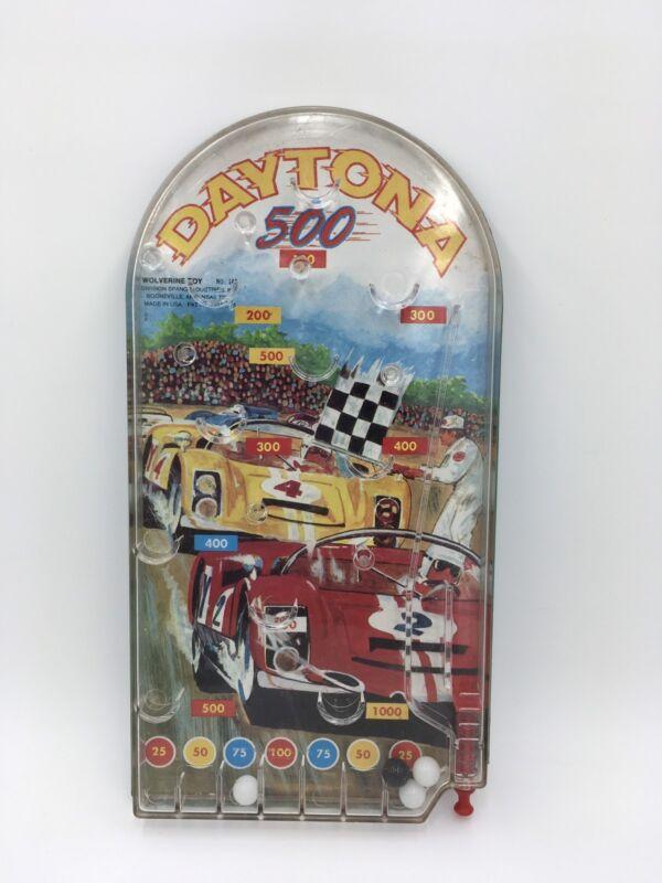 Vintage Wolverine Daytona 500 Auto Race Handheld Pinball Game