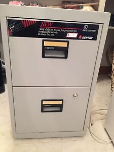 2 drawer fireproof filing cabinet