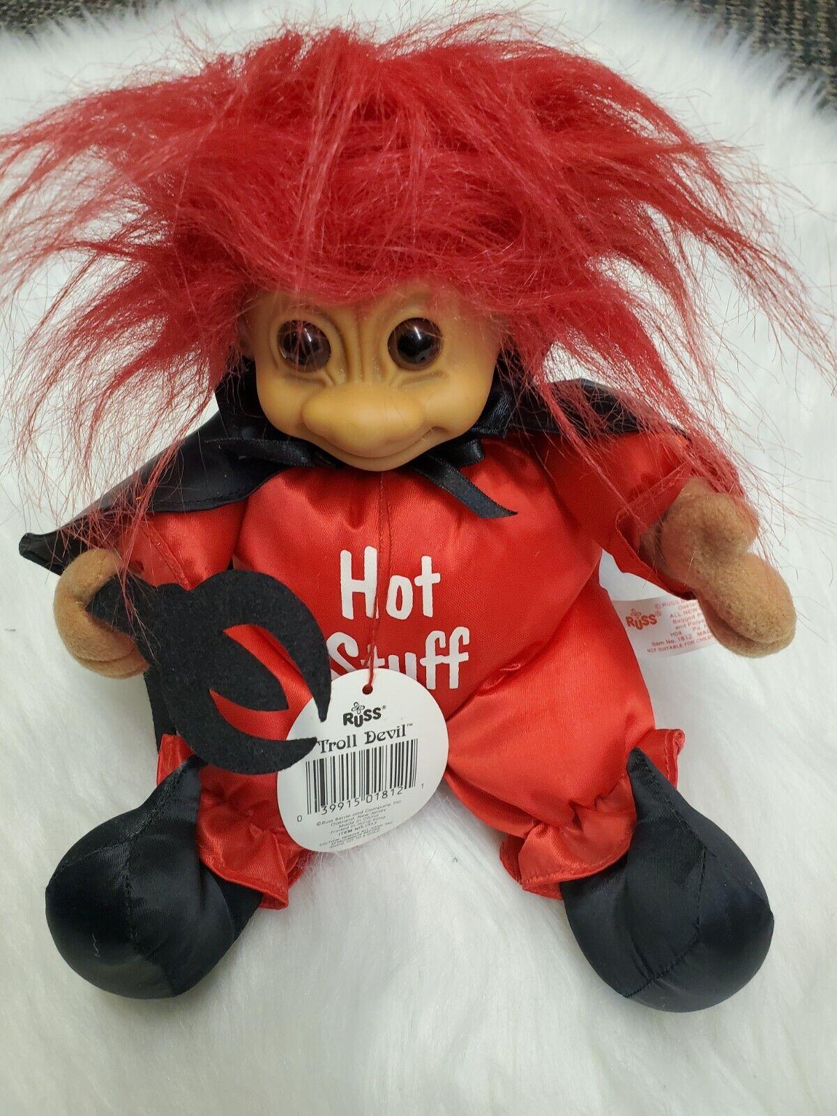 Russ Troll HOT STUFF Devil Seated 7 Plush Stuffed Troll HH-8 - $15.00