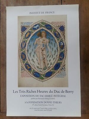 Poster Institute of France Les Very Rich Hours of the Duke of Berry