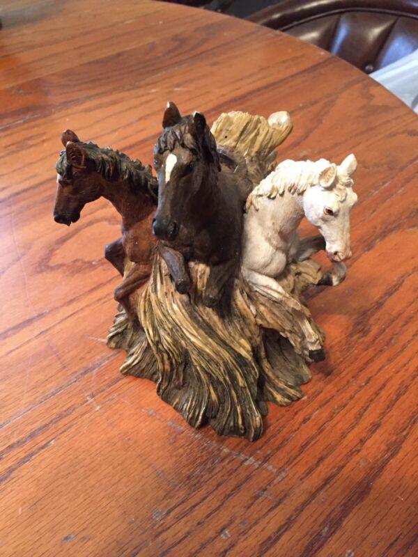 Vintage Ceramic Wild Horses Bank
