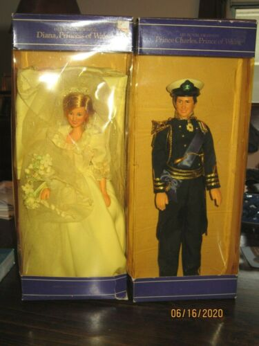 1982 Princess Diana Prince Charles Goldberger Royal Wedding Dolls Good Condition