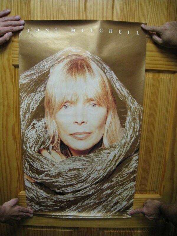 Joni Mitchell Poster Face Shot Vintage