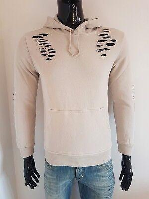 Kapuzen Xl Sweatshirt Jersey (Herren-Sweatshirt mit Kapuze Tücken Taschen Jersey Sport Casual Beige S M L XL)