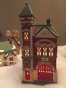 Department 56 Red Brick Fire Station -Newmarket