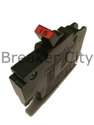 Federal Pacific 15 Amp 1 Pole Type NC (Thin) Stab-lok NC115 FPE Breaker 120 Volt