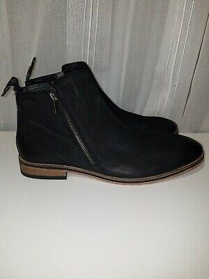 Superdry Brand Mens Trenton Zip Boots Zip Up Booties 100% Leather Size 10 US