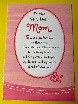 thank you for being the  very best mom (Mothers day) greeting (For The Best Mom)