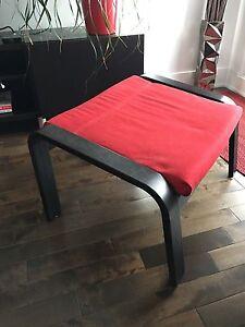 Pouf IKEA rouge