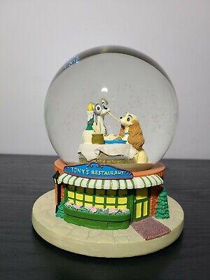 "Disney's Lady and the Tramp Snow Globe Tony's Restaurant ""Bella Notte"""