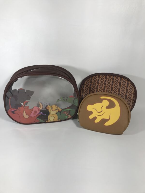 NEW DISNEY Loungefly Lion King 3 Piece Cosmetic Makeup Case