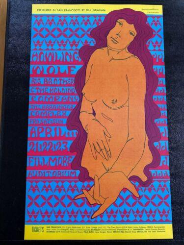 Original Janis Joplin Concert Poster From 1967 San Francisco Vintage