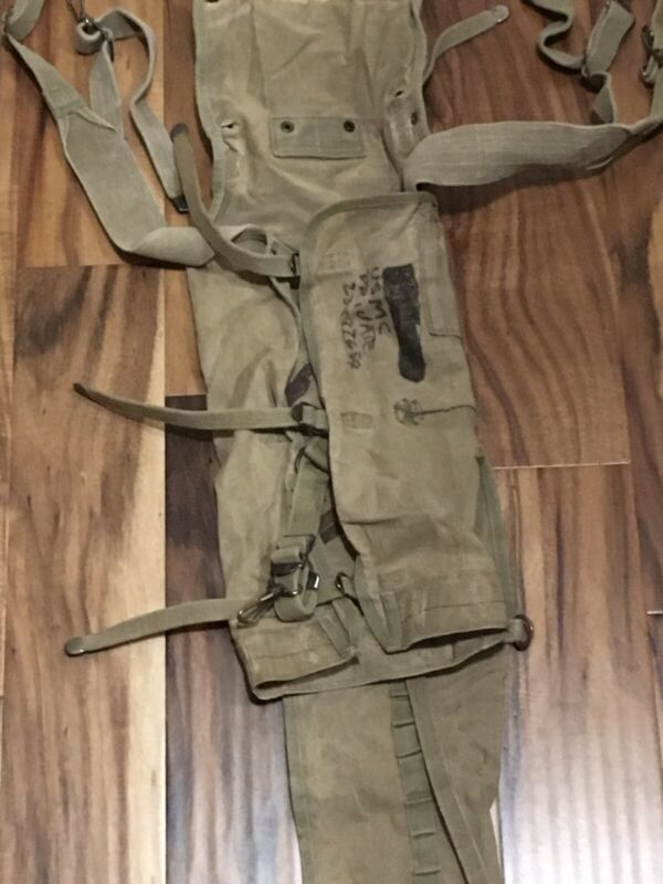 Original WWII WW2 US Army Military Issue M1928 Haversack 1942 W/ Service Number