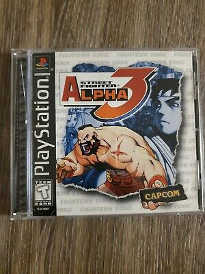 Used, Street Fighter Alpha 3 - PS1 Playstation 1 Game Complete Black Label SHIPS FREE! for sale  Sonora