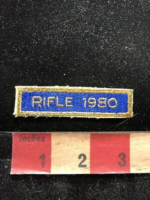 Vintage 1980 RIFLE COMPETITION Tab Patch Gun / Firearm / Ammo Related 83A1