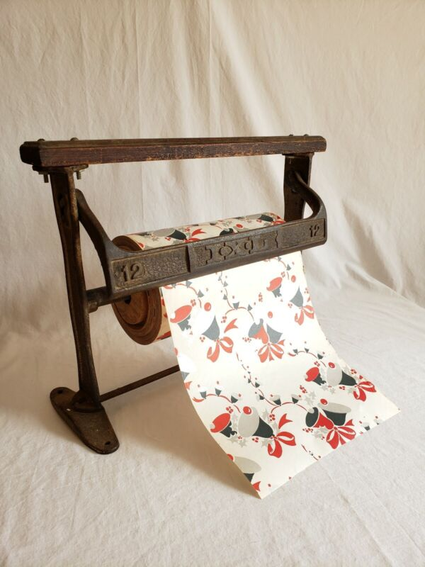Antique Wrapping Paper Butcher Paper Rack Mercantile Wood And Wrought Iron