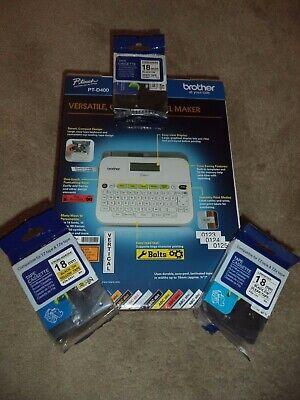 Bonus Brother P-touch Pt-d400 Self Adhesive Sticker Tape Label Maker Free 18mm