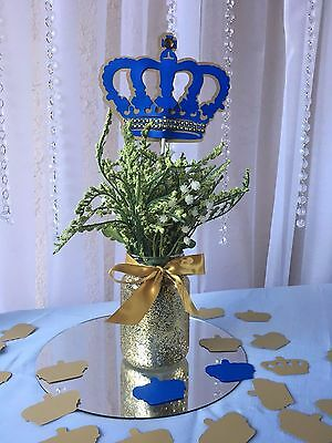 Royal Crown/ Royal blue and gold crown/ Prince Crown centerpieces stick - Gold And Royal Blue