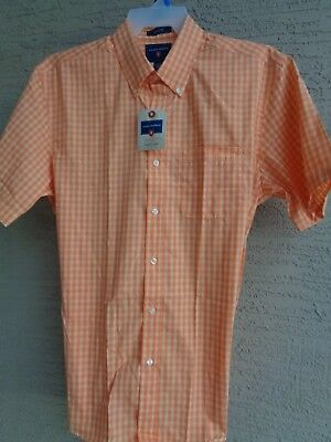 NWT MENS SADDLEBRED S/S COTTON BLEND BUTTON FRONT CASUAL SHIRT PLAID L $32.msrp for sale  Shipping to Canada
