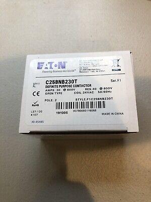Box Of 50 New Eaton C25BNB230T Definite Purpose Contactors