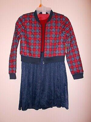 Girls 2 Piece Dress - Wonder Nation Girls 2-Piece Bomber Jacket And Dress Set Size 7/8 OR 10/12