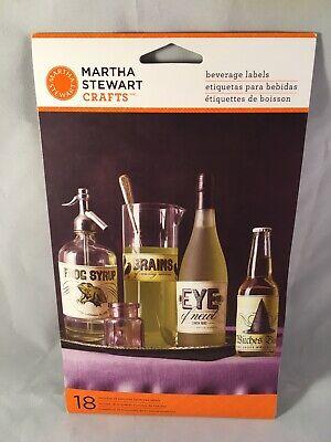 Martha Stewart Crafts Halloween Elegant Witch Beverage Labels Set of 18