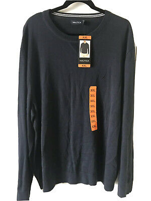 Nautica Mens Navy Blue Crew Neck Sweater Size XXL New With Tags