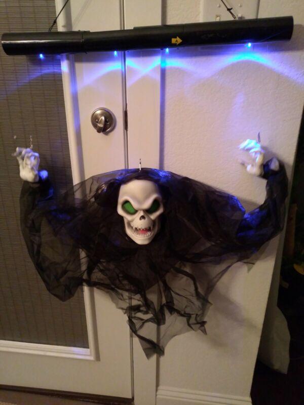 Spirit Halloween Animated Floating Grim Reaper Animatronic Prop, New In Box