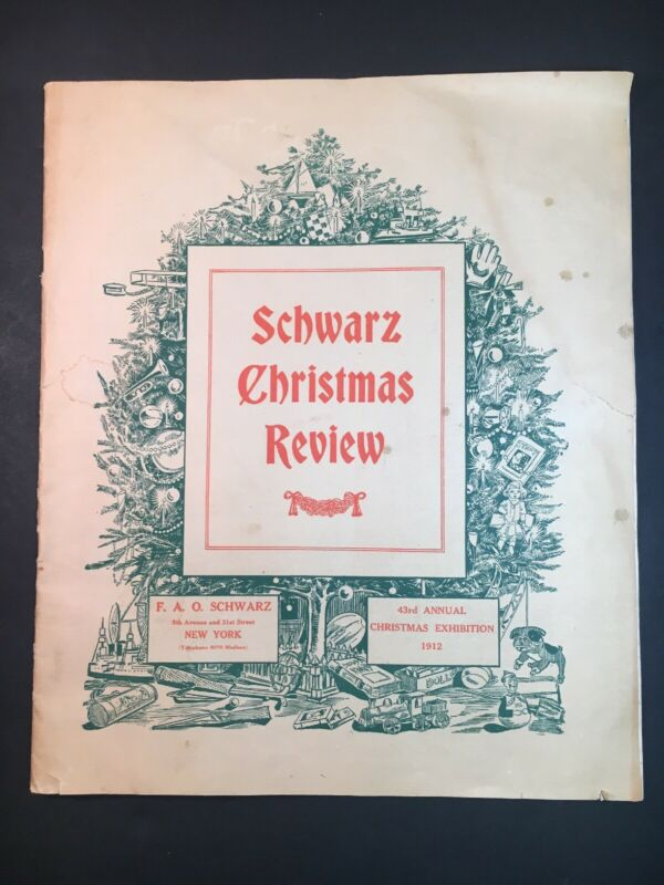 FAO Schwarz Christmas Review 1912 - Antique Catalog Complete Intact VHTF