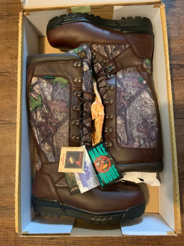 Redhead Brand Hunting Boots, 10M, NEW, Snake Proof, Waterproof, Leather & Camo.