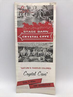 1965 STAGE BARN CRYSTAL CAVE Black Hills South Dakota Travel Guide Brochure Map