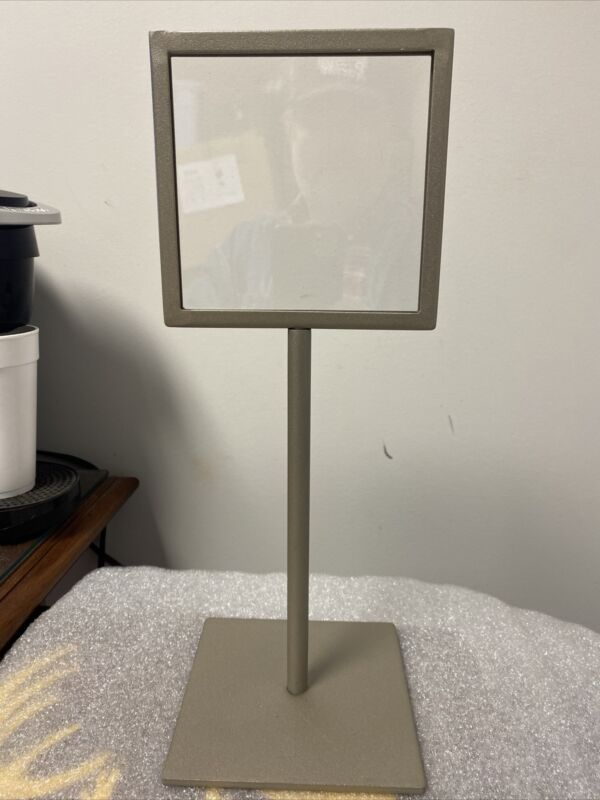 "6"" x 6"" Adjustable Sign Stand Advertising Support Board Poster Holder 16"" to 25"""