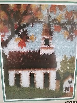 "Country Church Latchhook Kit 15""X20"" Wonder Art Caron NEW / SEALED"