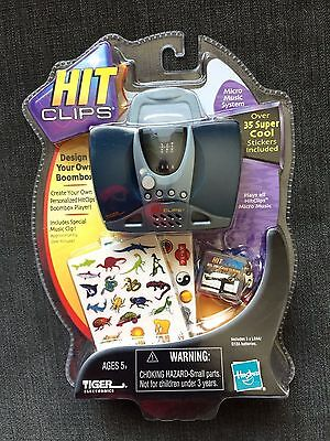HASBRO Tiger Elec.-Hit Clips  Boombox Player+1 Will Smith Micro Music Clip-RARE
