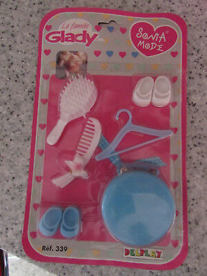 VINTAGE DELPLAY LA FAMILLE GLADY SONIA MODE DOLL ACCESSORY PACK LOT 1 NEW OLD ST