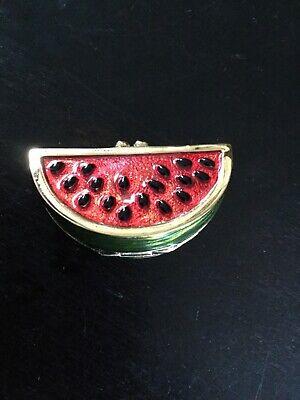 Estee Lauder Watermelon Slice Solid Perfume Compact 1996 White Linen