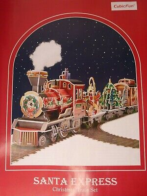 Santa Express 3D Puzzle w/ Music & Lights Christmas -- New in Open & Damaged Box