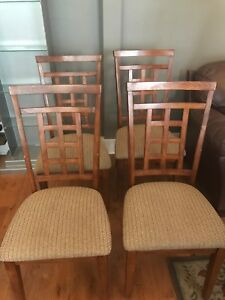4 dining room wood chairs