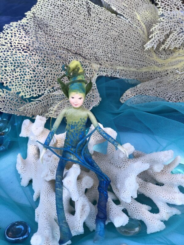 """Poseable Handmade Elf Fairy Collectible Doll """"Sprite"""""""