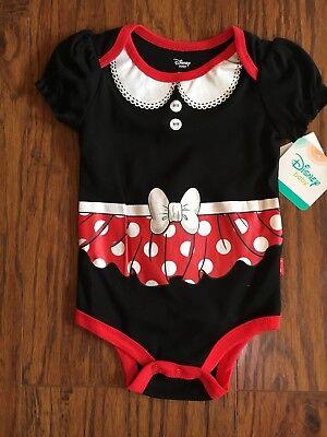 NWT Disney Baby Minnie Mickey Mouse Bodysuit Dress- Size 3-6 M