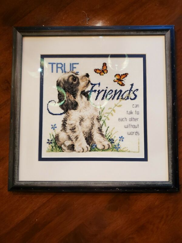 Completed Friends Cross Stitch  Professionally Framed at Michael