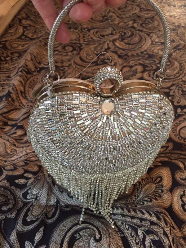 Bling Bling Cristal Beads Evening Clutch handbag purse Couture formal