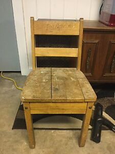 Small wooden kids chair