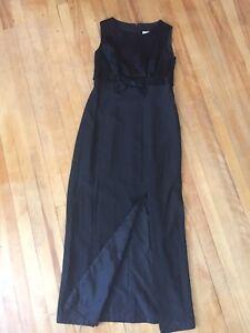 Lovely full length black dress