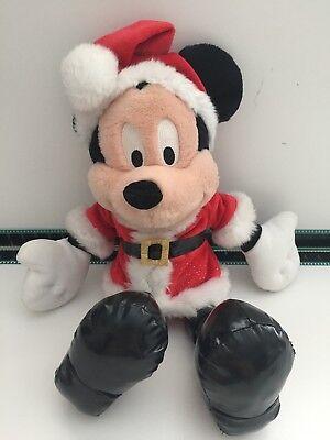 "Chritmas Games (Rare 18"" Disneyland Resorts Santa Mickey Mouse Chritmas Plush)"