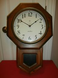 Vintage SETH THOMAS Electronic SCHOOLHOUSE REGULATOR WALL CLOCK---Parts/Repair